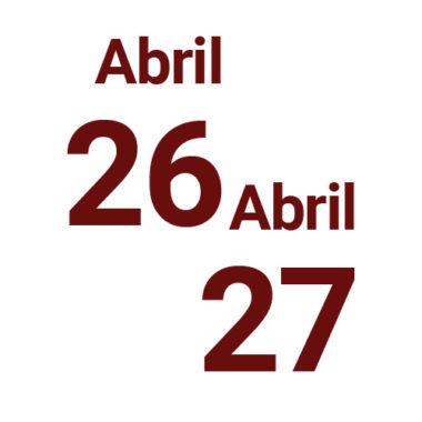26 e 27 de abril